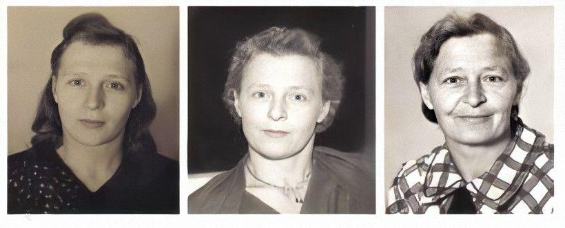 Aleksandra (Sandy) Denisenko Rogalski - 1922-2011 - our angel mother! (32K)